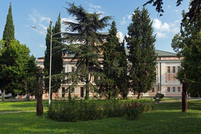 Het Theater van Geo Milev in het centrum van stad van Stara Zagora, Bulgarije stock foto's