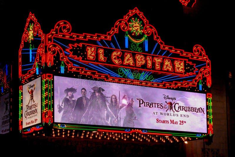 Het Theater van Gr Capitan stock fotografie