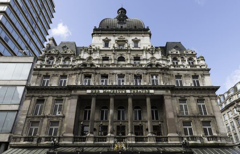 Het Theater van haar Majesteit, Londen royalty-vrije stock foto's