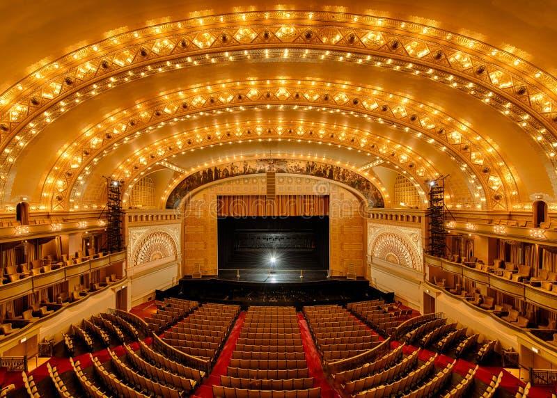 Het Theater van het auditorium royalty-vrije stock afbeeldingen