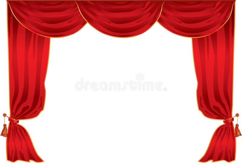 Het theater van het gordijn stock illustratie