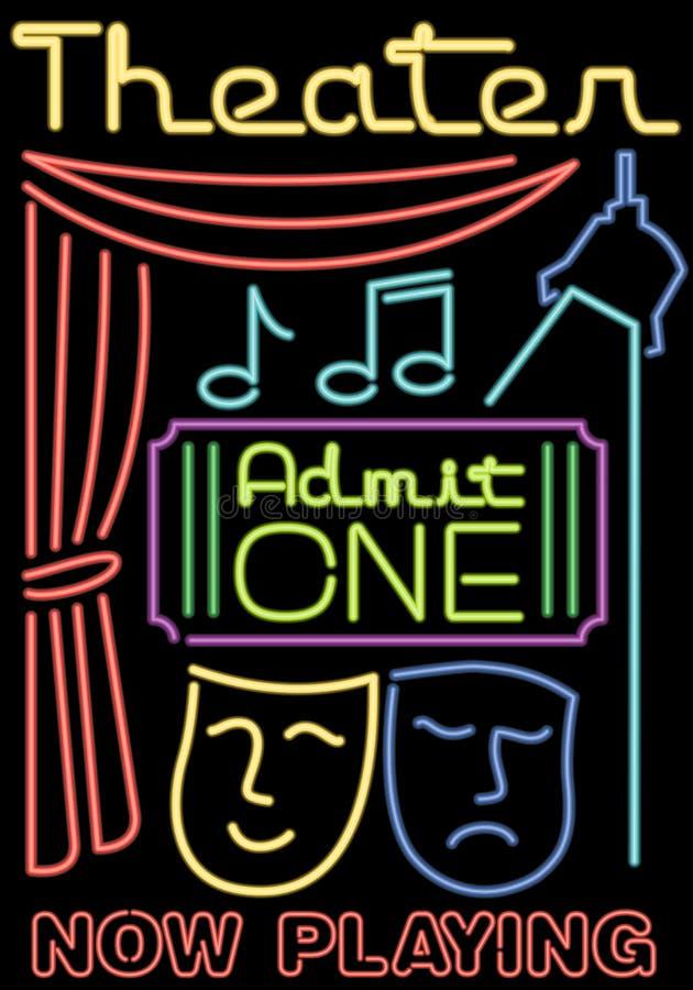 Het Theater van het neon/Stadium Symbols/ai vector illustratie