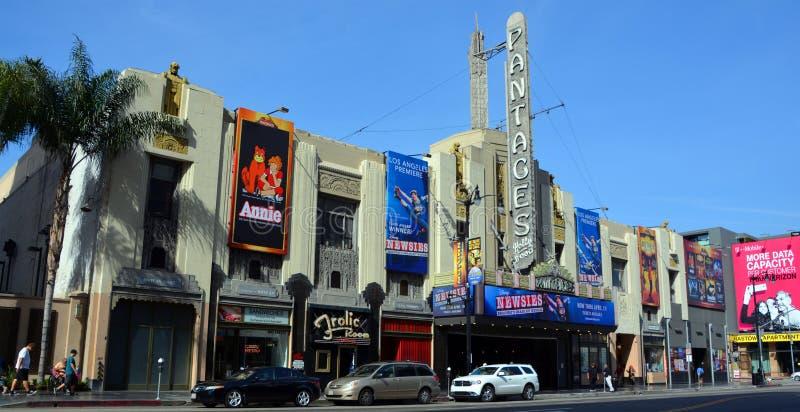 Het Theater van Hollywoodpantages stock afbeeldingen