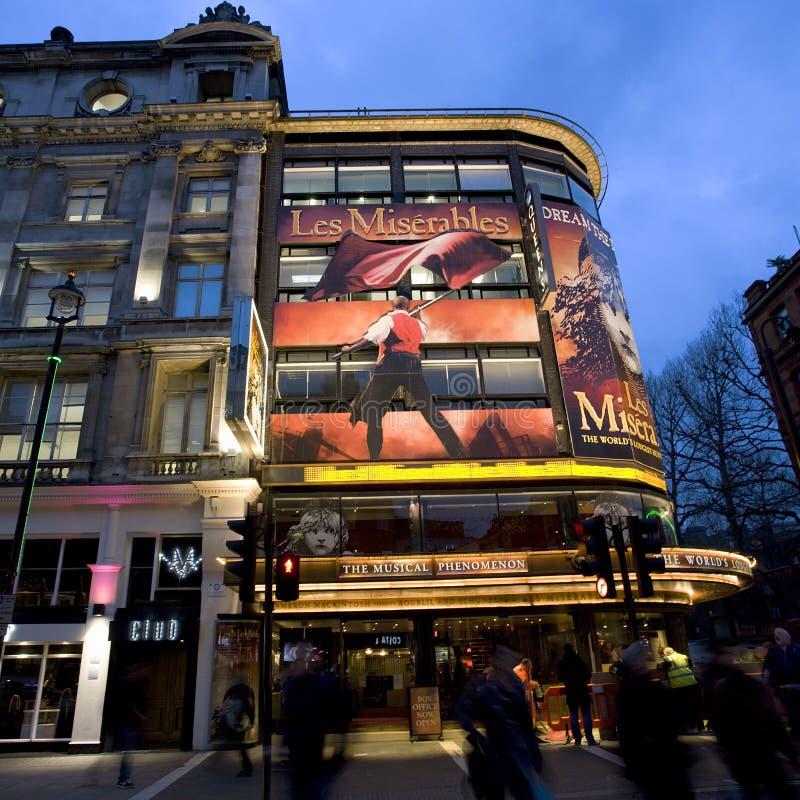 Het Theater van Londen, het Theater van de Koningin stock afbeeldingen