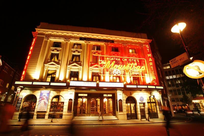 Het Theater van Londen, St Martin Theater stock afbeeldingen