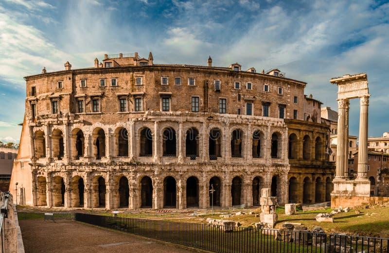 Het Theater van Marcellus in Rome stock afbeelding