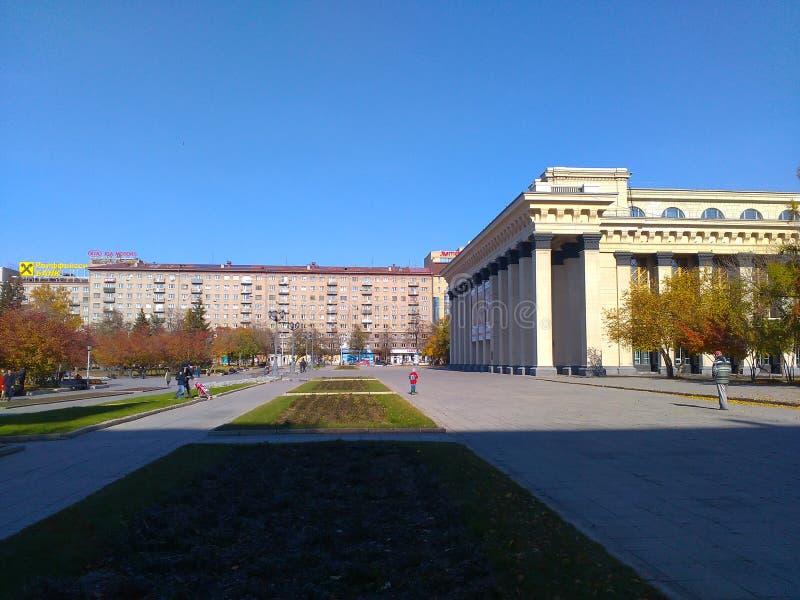 Het Theater van Opera en Ballet in Novosibirsk stock foto