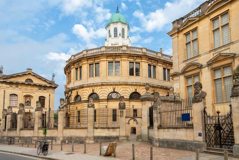 Het Theater van Sheldonian Oxford, Engeland royalty-vrije stock foto's