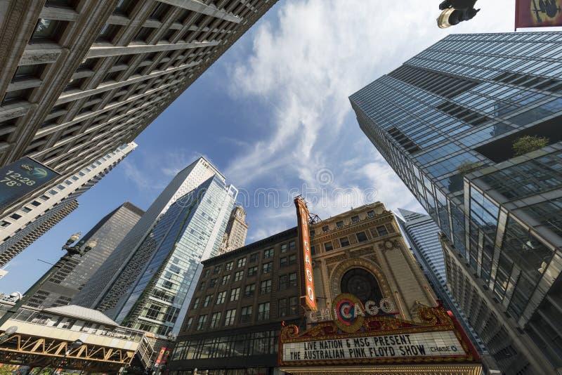 Het theatermening van Chicago stock foto