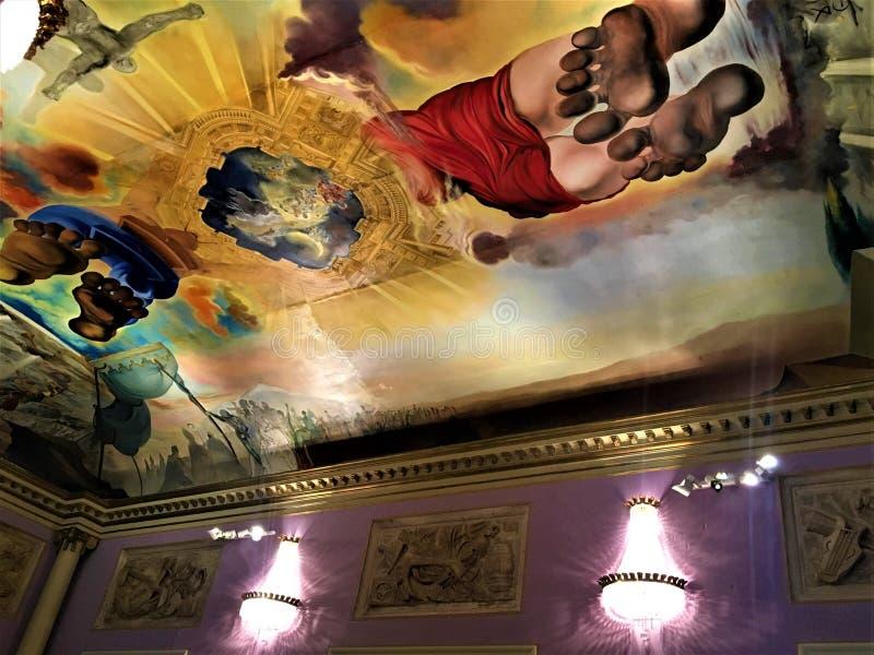 Het Theatermuseum van Salvador Dalì in Figueres, art. stock afbeeldingen