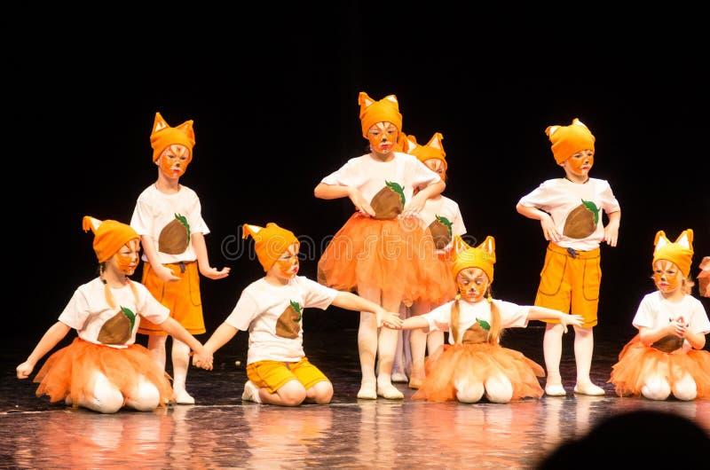 Het Theateroverleg van de Kolibridans, Minsk, Wit-Rusland stock foto