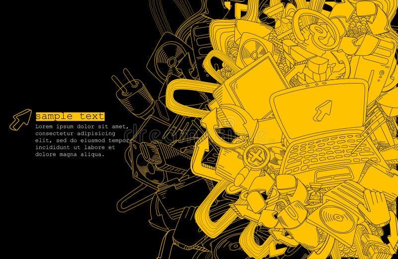 Het thema achtergrond-vector van de computer vector illustratie