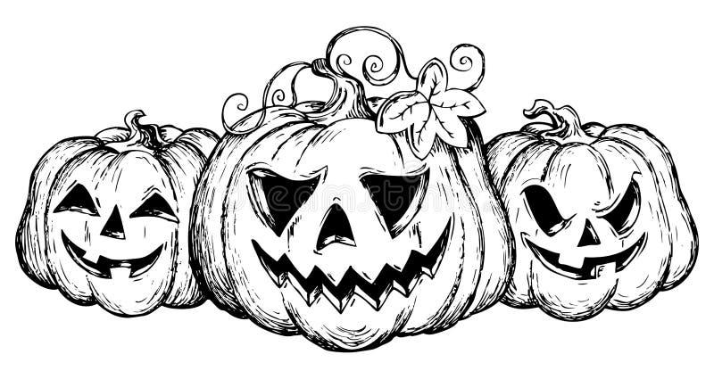 Het thema dat van Halloween 2 trekt vector illustratie