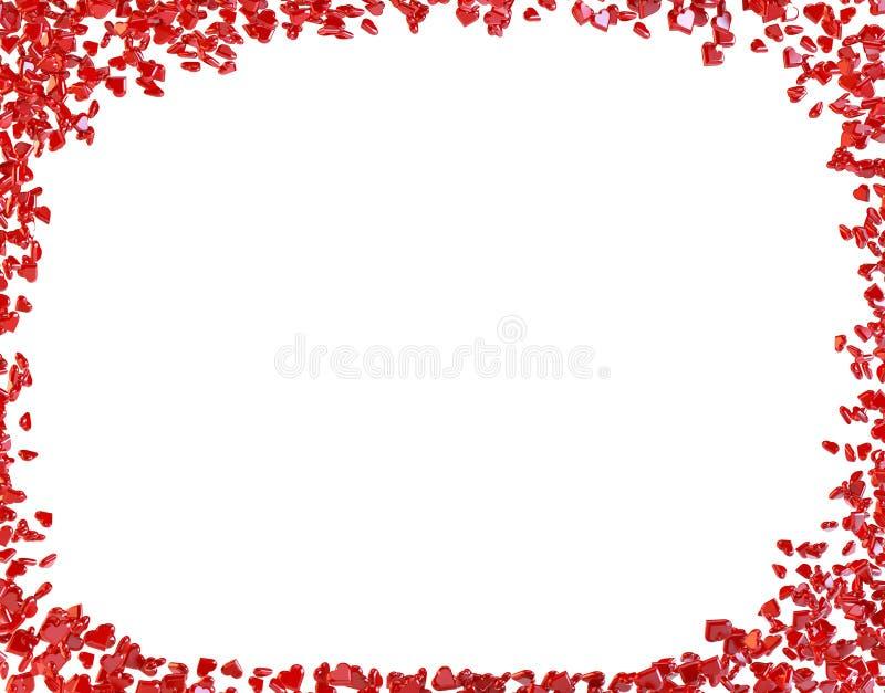 Het thema harten van de achtergrondvalentijnskaartendag royalty-vrije illustratie