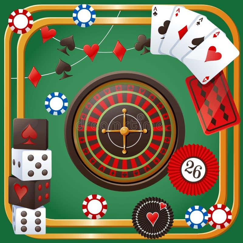 Het thema van de casinopartij stock illustratie