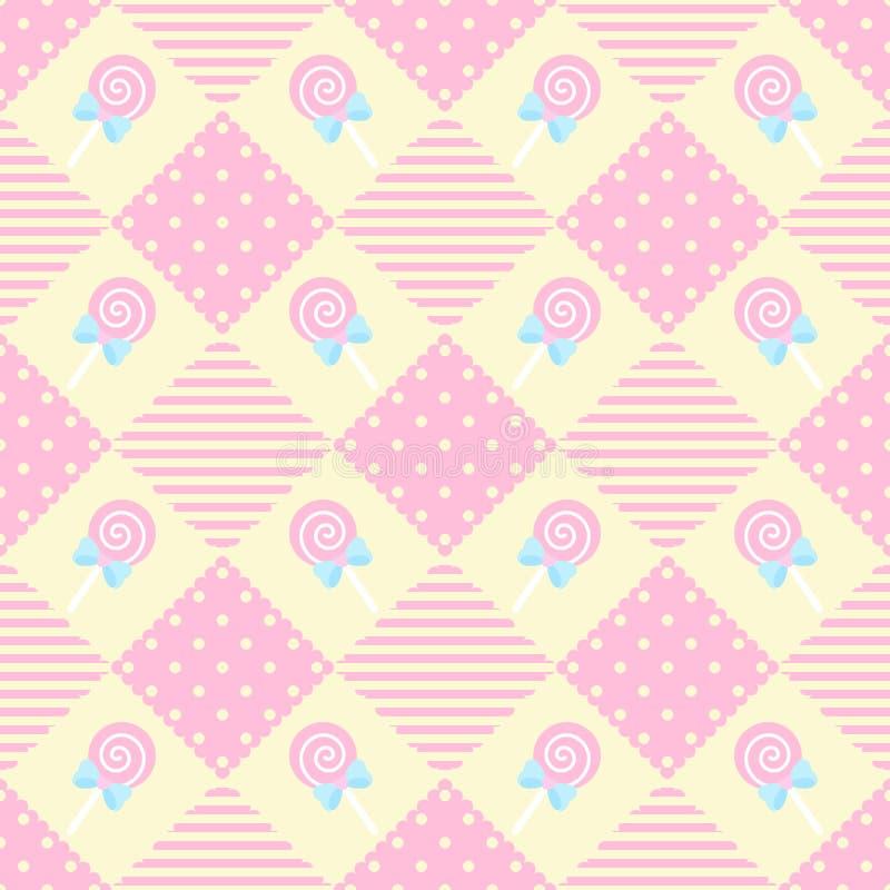 Het Thema van de de Meetkundepastelkleur van de patroonlolly royalty-vrije stock afbeeldingen
