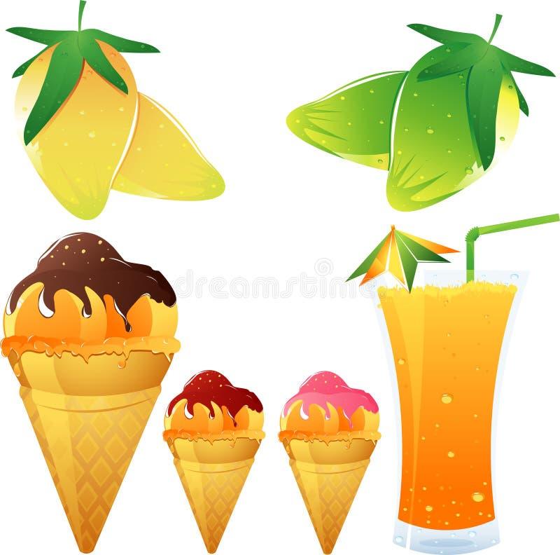 Het thema van de mango royalty-vrije illustratie