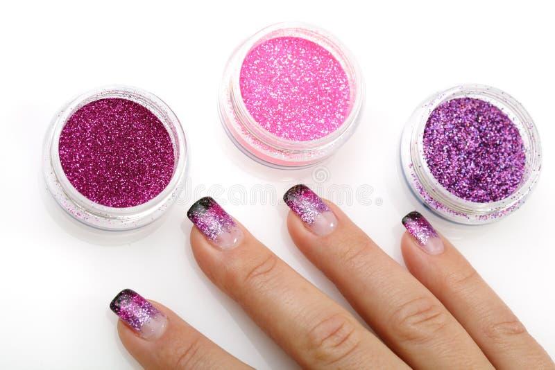 Het thema van de manicure stock fotografie