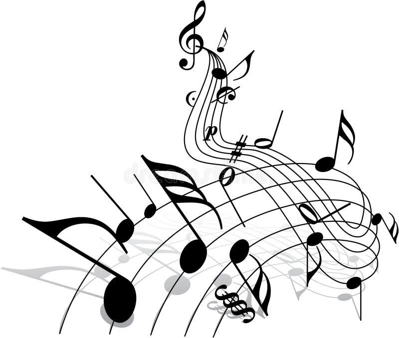Het thema van de muziek stock illustratie