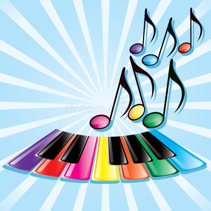 Het thema van de muziek vector illustratie