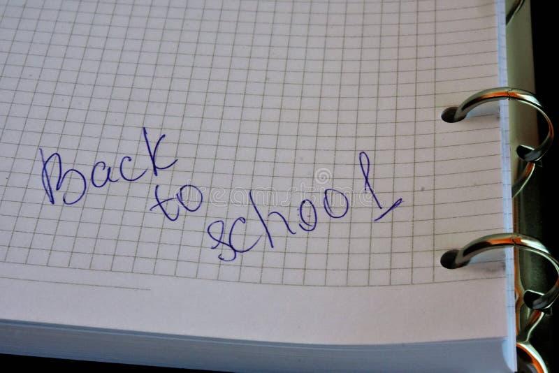 Het thema van de school stock fotografie