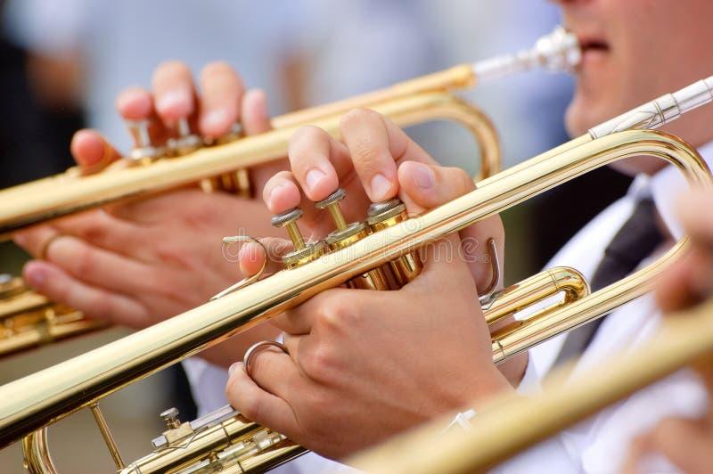 Het thema van de trompet royalty-vrije stock afbeeldingen