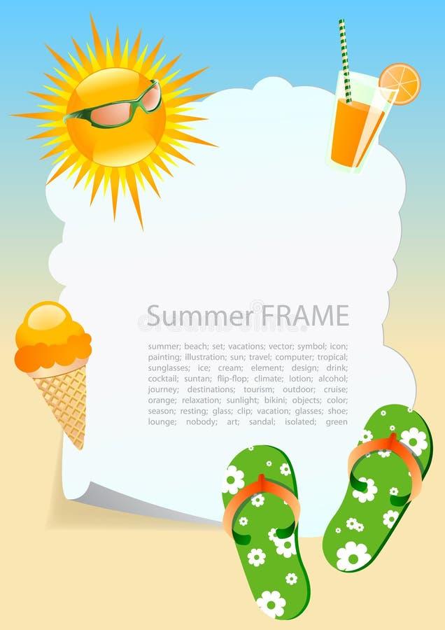 Het thema van de zomer stock illustratie
