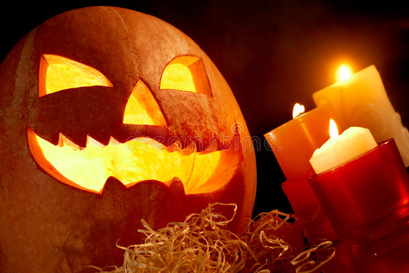 Het thema van Halloween stock fotografie
