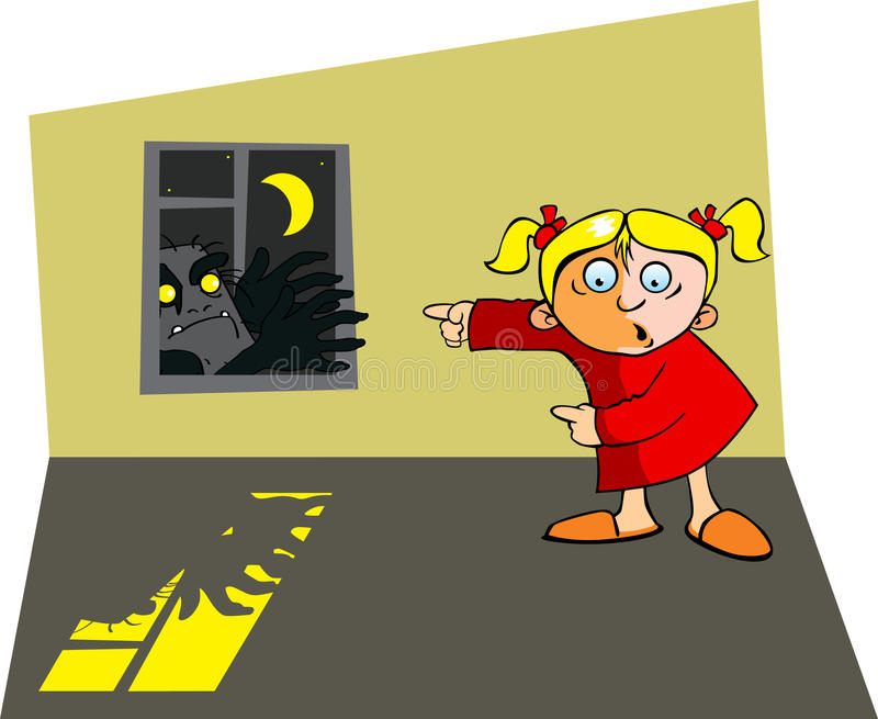 Het thema van Halloween royalty-vrije illustratie