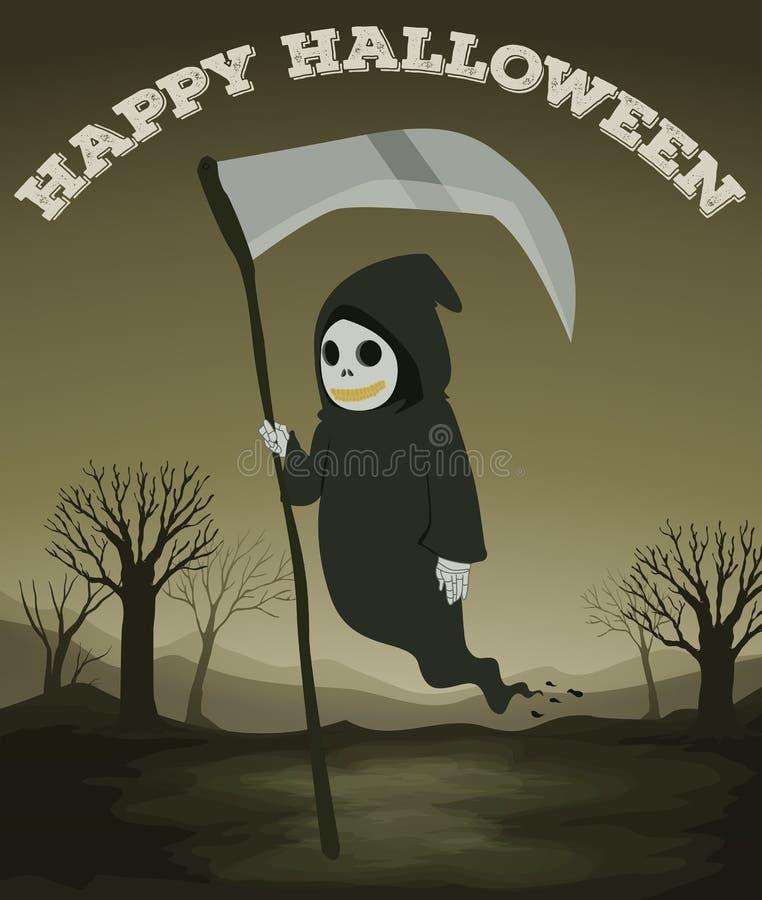 Het thema van Halloween met spook vector illustratie
