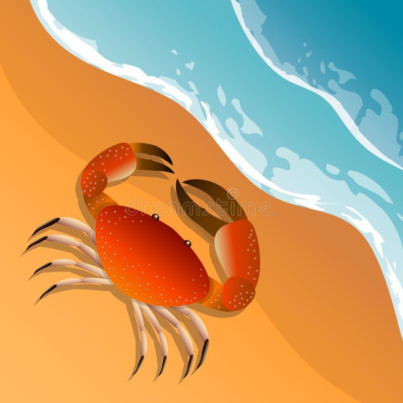 Het thema van het strand royalty-vrije illustratie