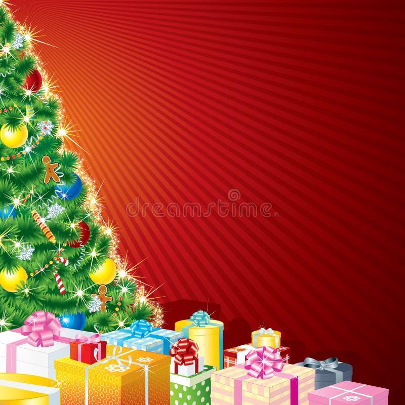 Het Thema van Kerstmis stock illustratie