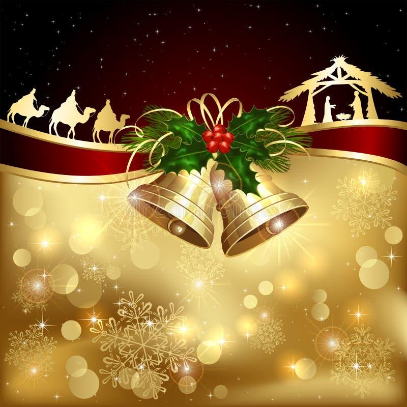 Het thema van Kerstmis royalty-vrije illustratie