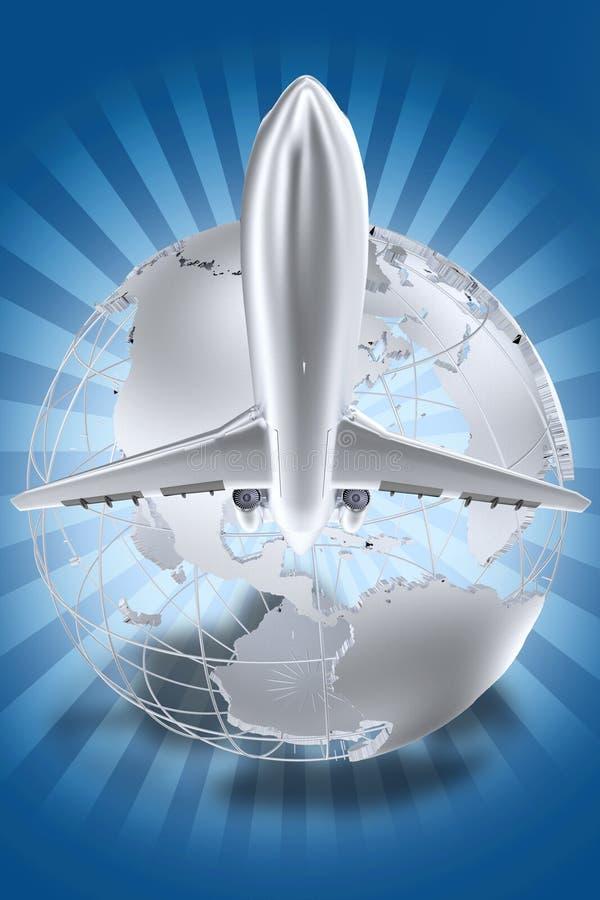 Het Thema van luchtvaartlijnen stock illustratie