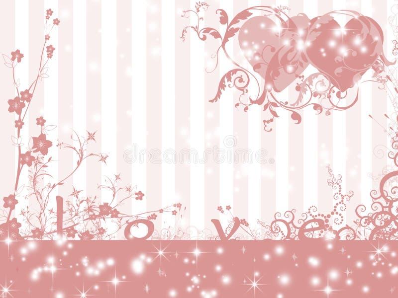 Het themaachtergrond van de liefde vector illustratie