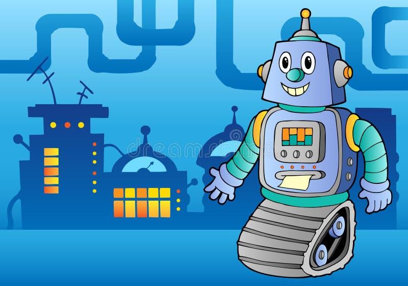 Het themabeeld 1 van de robot royalty-vrije illustratie