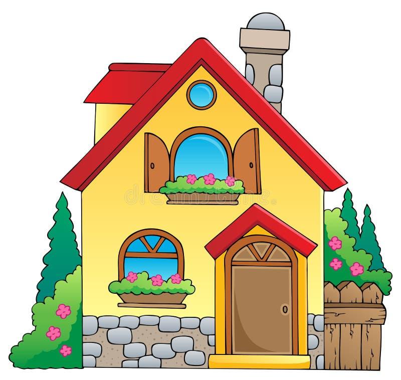 Het themabeeld 1 van het huis royalty-vrije illustratie
