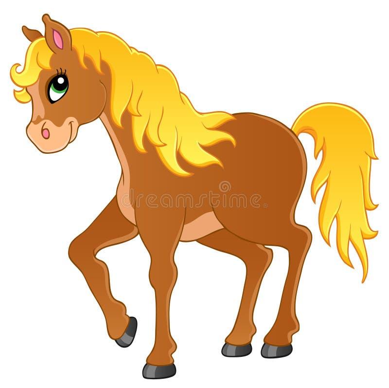 Het themabeeld 1 van het paard stock illustratie
