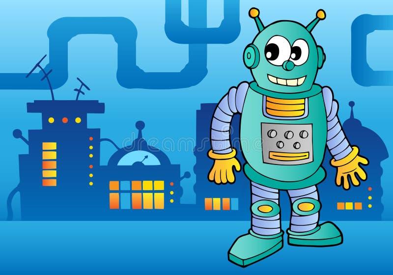 Het themabeeld 2 van de robot vector illustratie