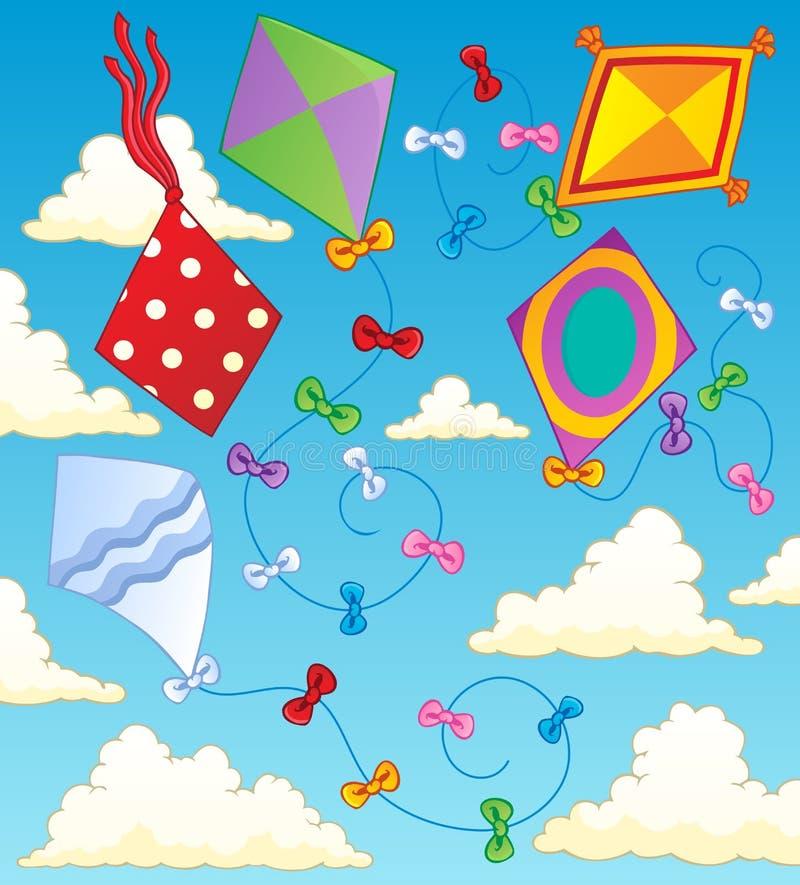 Het themabeeld 2 van vliegers vector illustratie