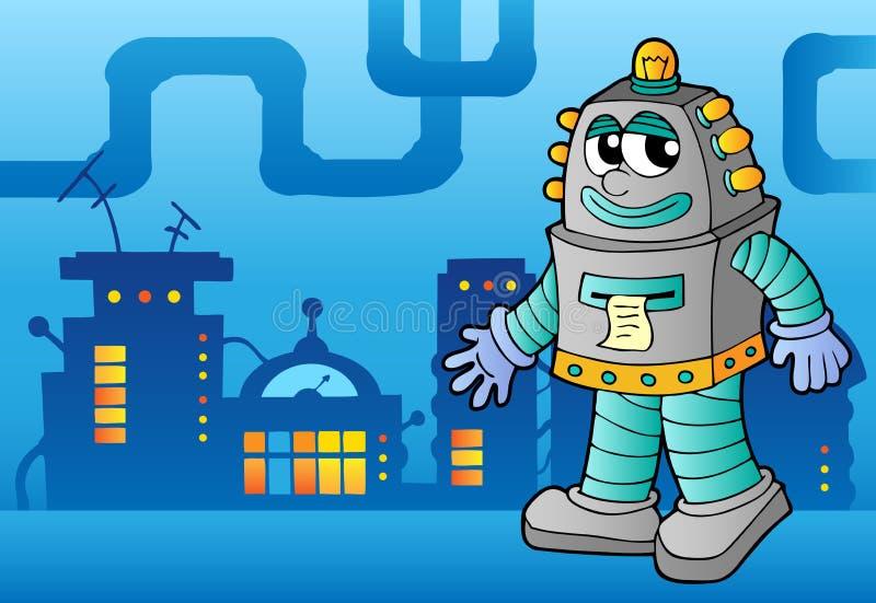 Het themabeeld 3 van de robot vector illustratie