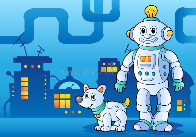 Het themabeeld 4 van de robot stock illustratie