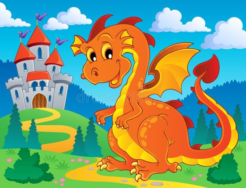 Het themabeeld 9 van de draak royalty-vrije illustratie