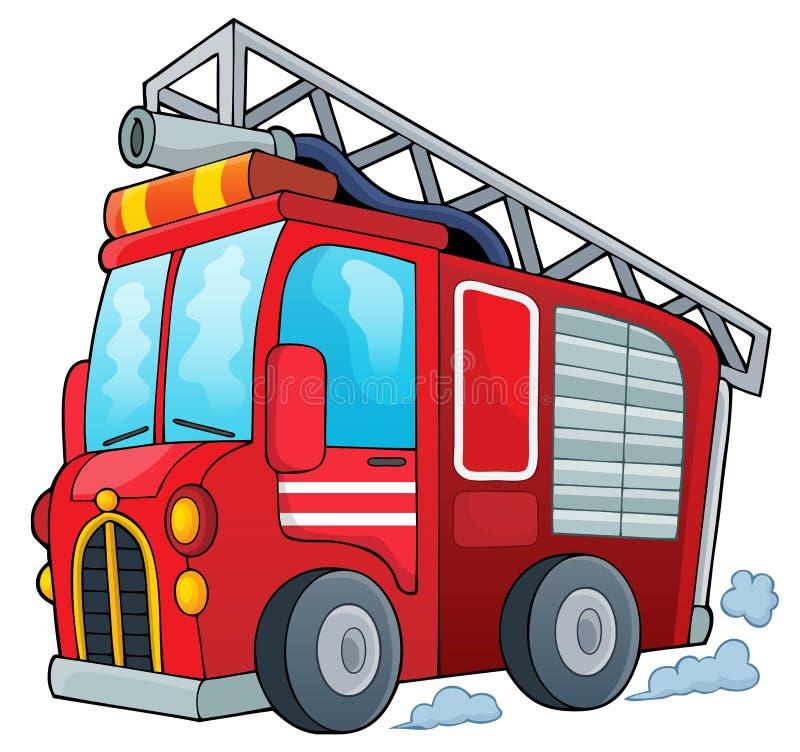 Het themabeeld 1 van de brandvrachtwagen royalty-vrije illustratie