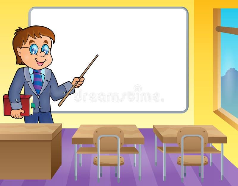 Het themabeeld 4 van de mensenleraar stock illustratie