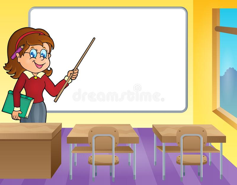 Het themabeeld 4 van de vrouwenleraar stock illustratie