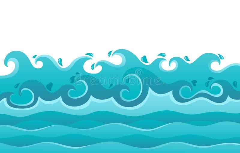Het themabeeld van golven   stock illustratie