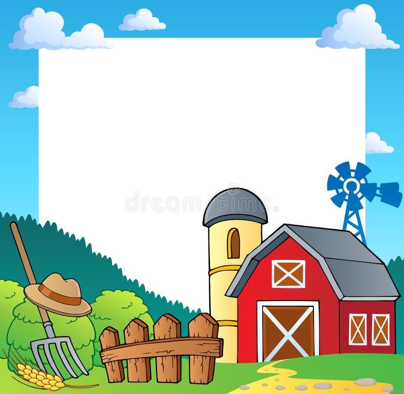 Het themaframe 1 van het landbouwbedrijf stock illustratie