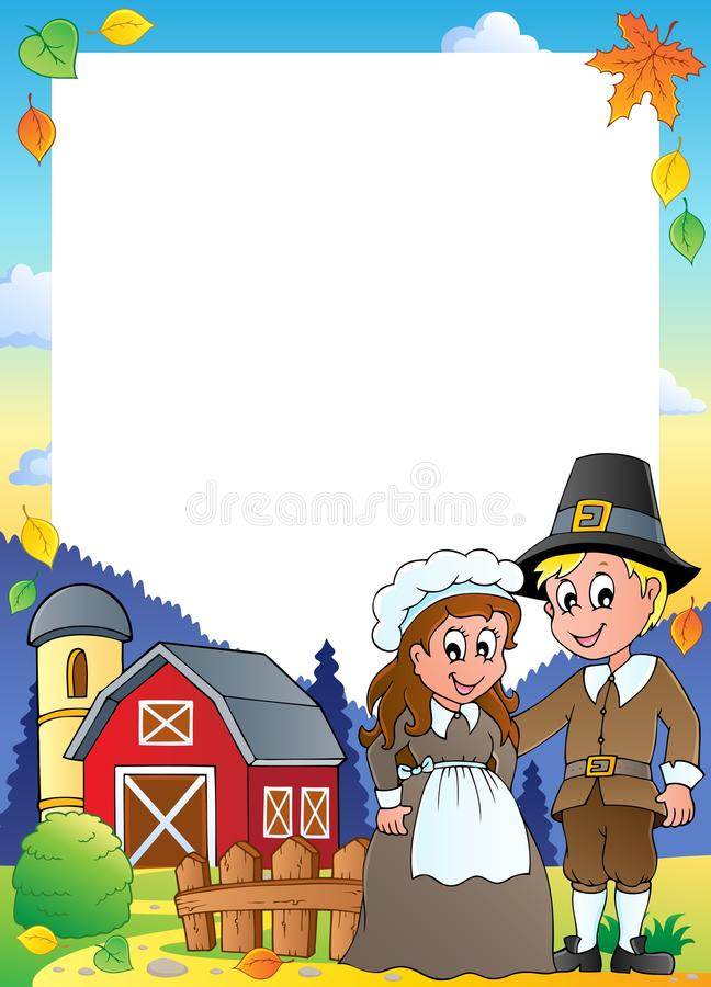 Het themaframe van de dankzegging   royalty-vrije illustratie