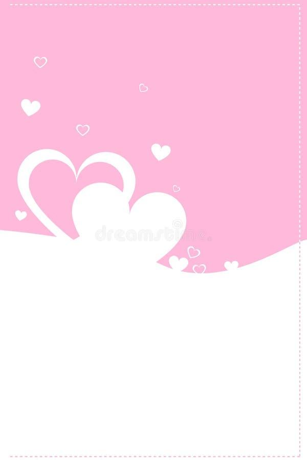 Het themakaart van de valentijnskaart vector illustratie